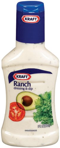 Kraft Ranch Salad Dressing, 8 Ounce Bottles (Pack of 6)