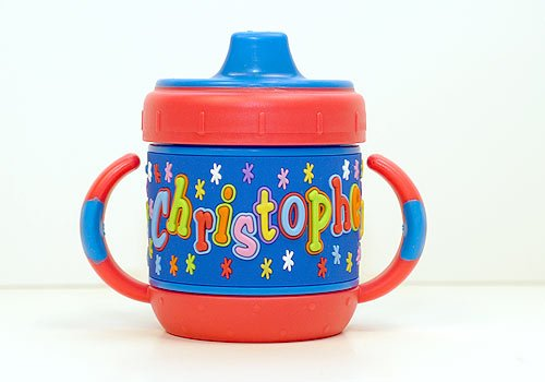 Personalized Sippy Cup: Christopher front-112436