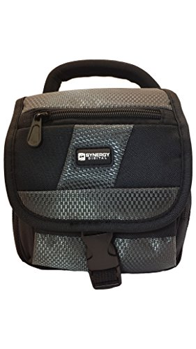 Canon PowerShot SX530 HS Digital Camera Case Camcorder and Digital Camera Case - Carry Handle & Adjustable Shoulder Strap - Black / Grey - Replacement by Synergy (Hs Camcorder compare prices)