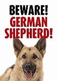 Beware German Shepherd Sign
