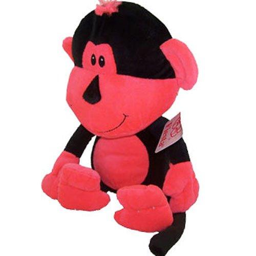 Fiesta Neon Plush - MARLEY the Monkey (Black & Orange 15.5 inch) - 1