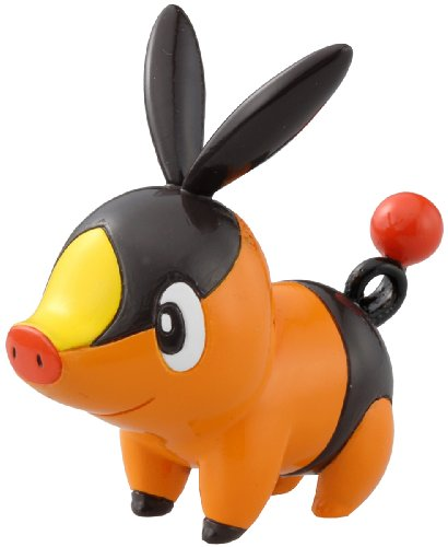 Takaratomy Pokemon Black and Orange Monster Collection Figure - M-002 - Pokabu/Tepig - 1