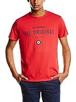 Ben Sherman Camiseta Manga Corta The Original Print Tee (Rojo)