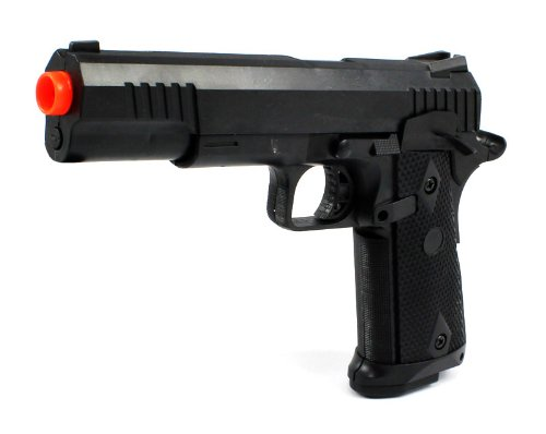 Marine Corp Electric Blowback Airsoft Pistol Full Auto & Semi Auto Fps-180 Aep Automatic Electric Gun W/ Hop Up