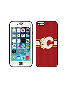 buy Calgary Flames Nhl-Iphone 5 5S Case, Clear Case For Iphone 5 5S Cool Hockey Case Cover For Iphone 5 5S