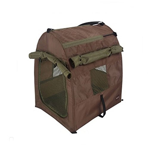 Portable Collapsible Pet Dog Outside Travel Tent Nest Bag (Coffee) back-427541