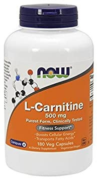 Now Foods, L-Carnitin, 500 mg, 180 Vcaps