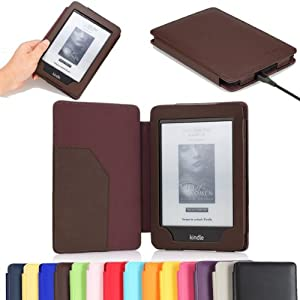 "MoKo(TM) Cover Case for Amazon Kindle Paperwhite (6"" High Resolution Display with Built-in Light), COFFEE (with Auto Sleep/Wake)"