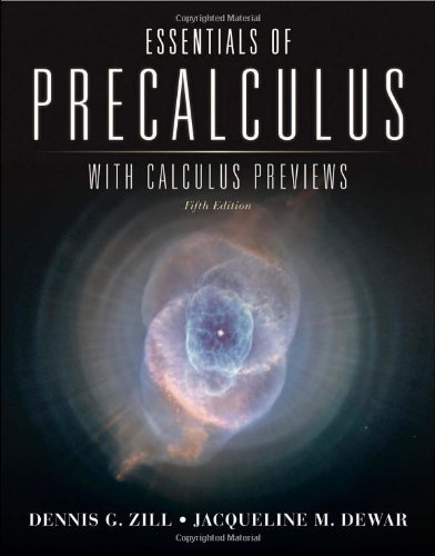 Essentials Of Precalculus With Calculus Previews (Jones...