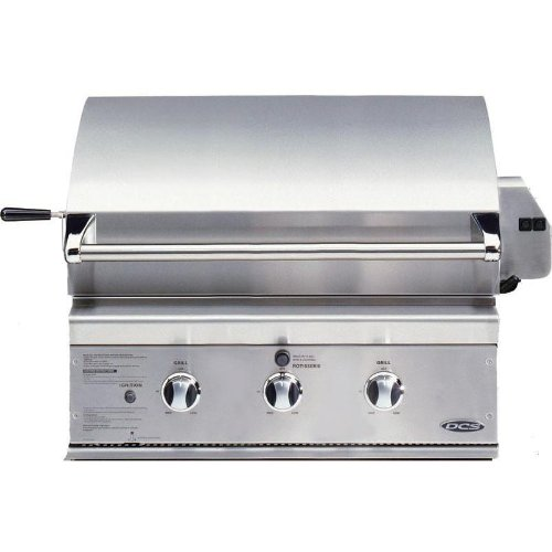 DCS BGB30-BQR-L 30-Inch Propane Traditional Grill, Brushed Stainless Steel
