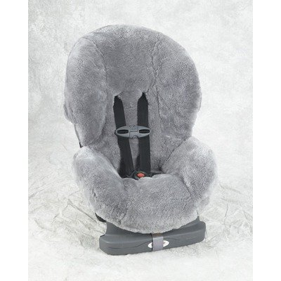 Custom Sheepskin Convertible Car Seat Cover Seat Model: Britax Boulevard, Color: Silver