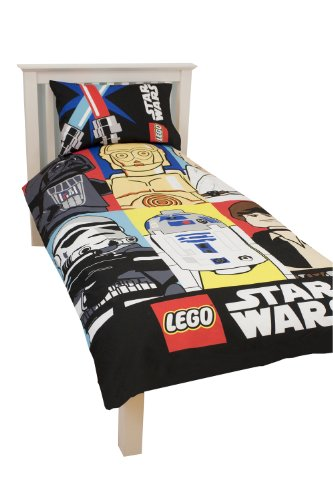 comparamus parure linge de lit housse de couette taie d oreiller lego star wars 1 personne. Black Bedroom Furniture Sets. Home Design Ideas