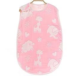 Lucear Baby Sleep Sack,Muslin Blanket,Printed Baby Sleep Bag