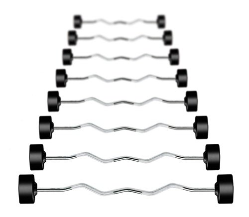 York Dumbbell Exercise Programme: York Barbell 20-110 Lb Pro-Style Rubberized Curl Barbell