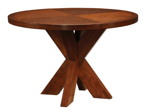Buy Low Price Modus Modus Furniture Hudson Round X Base Dining Table, Mocha (HD6061A)