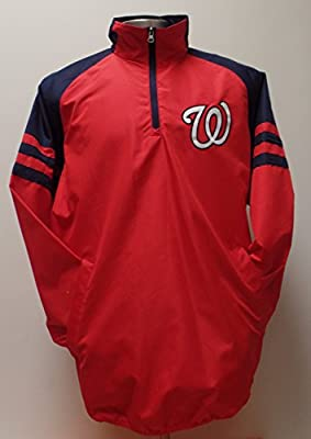 Men's MLB Washington Nationals Lightweight Quarter Zip Jacket