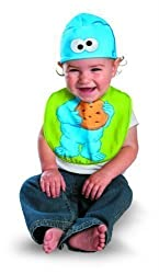 Disguise Drool Over Me Sesame Street Cookie Monster Infant Bib And Hat Costume By Disguise Costumes