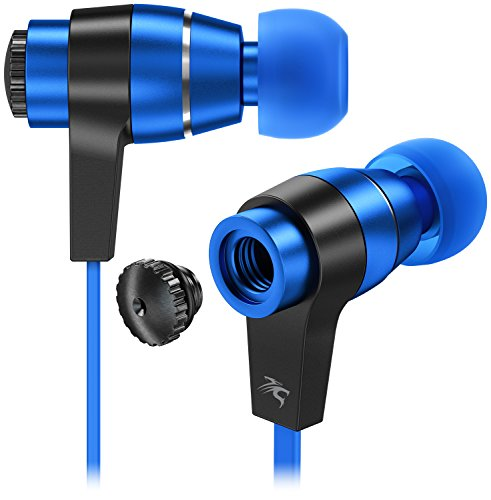 sentey-black-blue-earbuds-earphones-in-ear-headphones-headset-metal-audiophile-for-music-running-tra