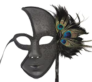 Venetian Dark Masquerade Party Mask