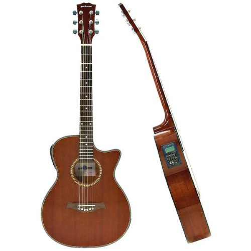 Deluxe Single Cutaway Electro Acoustic Guitar Sapeli