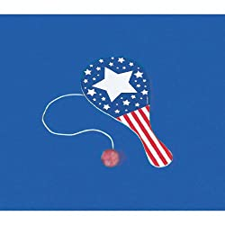 Patriotic Paddle Ball Games and Activity (1 per package)