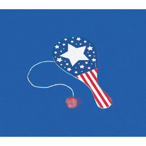 Patriotic Paddle Ball Party Accessory