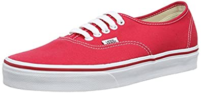 Vans Authentic Red Skate Shoes - Size 7