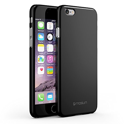 iPhone 6 Case, Thin Fit - Best Ultra Slim Hard PC Case (Jet Black) for Your Apple iPhone 6 4.7 - Designed with Premium Polycarbonate Plastic to be Exact Fit + Non Slip Grip + Scratch & Impact Resistan
