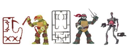 Teenage Mutant Ninja Turtles Basic Action Figure 3-Pack - Michelangelo - Raphael - Kraang