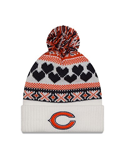 NFL Chicago Bears Women's Winter Cutie Knit Beanie, One Size, White/Team Color (Bears Winter Hat compare prices)