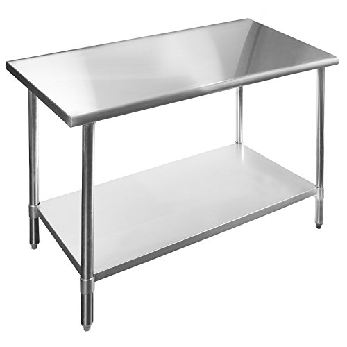 Gridmann 48 Inch X 24 Inch Stainless Steel Kitchen Table Furniture Carts Islands Islands