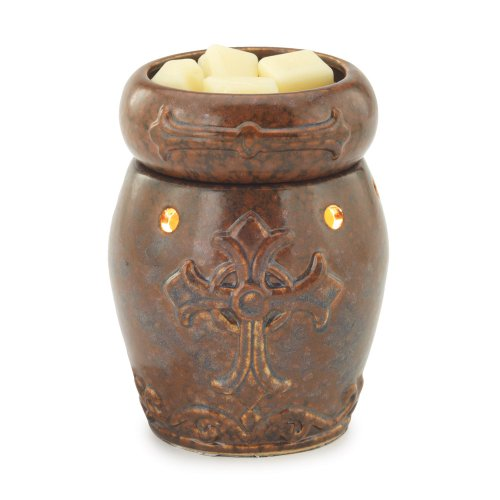 Candle Warmers Etc. Round Illumination Fragrance Warmer- Cross