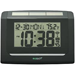 Equity by La Crosse 65906 Hybrid Solar Atomic Digital Wall Clock