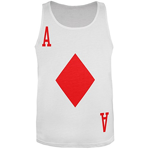 [Halloween Ace of Diamonds Card Soldier Costume All-Over Adult Tank Top - Large] (Zombie Soldier Costumes)