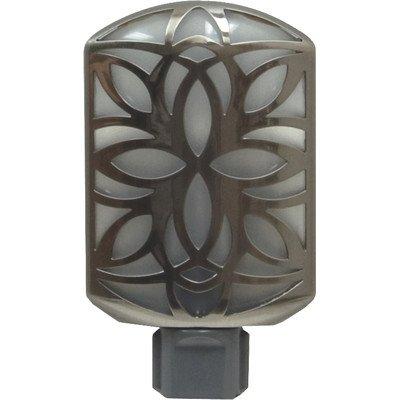 Ge Led Flower Petal Night Light, Brushed Nickel front-332068