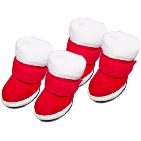 Happy Pets Unique Cute Special Pet Sneakers Dog Cat Shoes Christmas Thermal Boots Cotton Padded Novel Nice Fashion Interesting Gift (1)