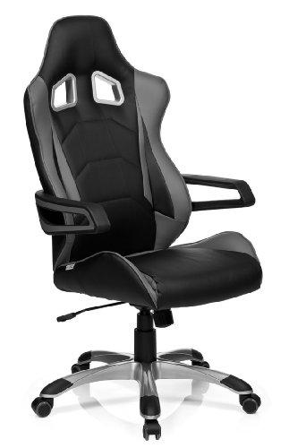 hjh-OFFICE-621835-Gaming-Stuhl-Brostuhl-RACER-PRO-I-Kunstleder-schwarzgrau