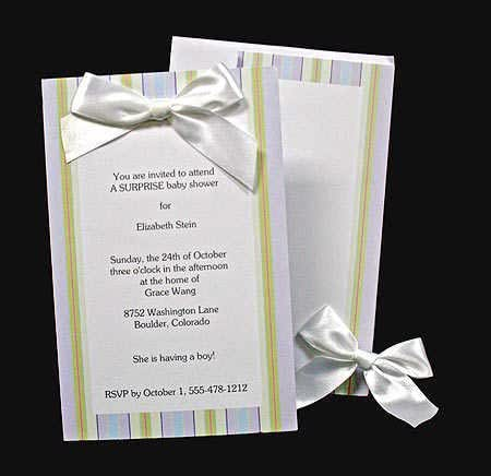 Amazoncom wilton baby or wedding shower stripe invitation 10 sets health personal care for Imprintable bridal shower invitations