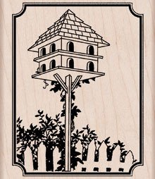 Tall Birdhouse - Rubber Stamps