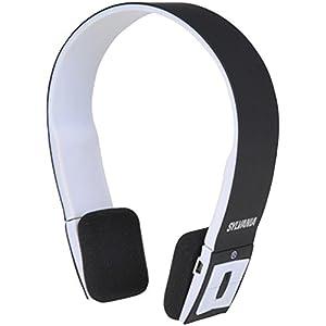 Sylvania SBT214-Black Bluetooth Stereo Headphones - Black