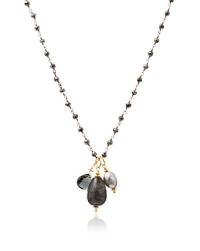 Robindira Unsworth Silver Quartz Cluster Necklace