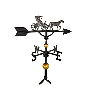 Montague Metal Products 32-Inch Deluxe Weathervane with Swedish Iron Country Doctor Ornament