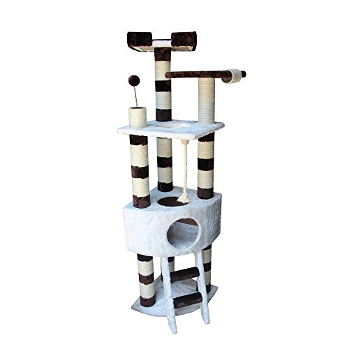 Kitty Mansions Savannah Cat Tree, White