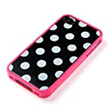 CAZE Duetto case-back for iPhone 4/4S - Polka Dot Pink(ポルカドットピンク)【着せ替えファッションケース】