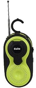 Kaito KA220 Wind-up Dynamo Rechargeable Emergency AM/FM Radio, IP44 Waterproof