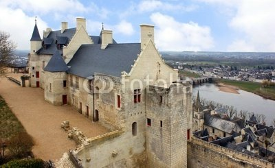 """Wallmonkeys Peel and Stick Wall Decals - Castle of Chinon - 48""""W x 29""""H Removable Graphic"""
