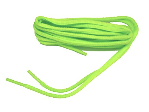 45 Inch 114 cm Brilliant Neon Green Lime Oval Athletic Shoe Sneaker Laces Shoelaces - 2 Pair Pack (Neon Green Shoe Laces compare prices)