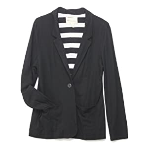 Vince Camuto Jacket, Women's Long Sleeve Ponte Blazer (L, Black)