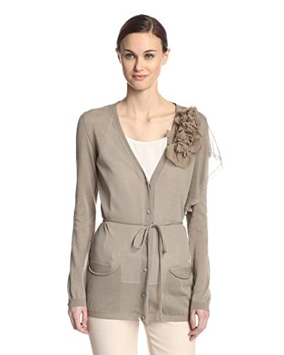 Valentino Women's Knit Cardigan with Flower