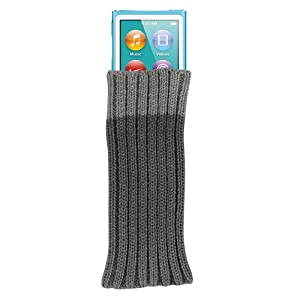CaseGuru Knitted Socks Case For iPod Nano 7G, Nano 6G, Nano 5G, Nano 4G and Nano 2G (Slate Black)